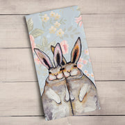 Bunny Friends Floral Tea Towel