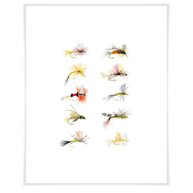 Flies Canvas Wall Art 10x14