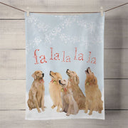 Five Goldens Singing Tea Towel