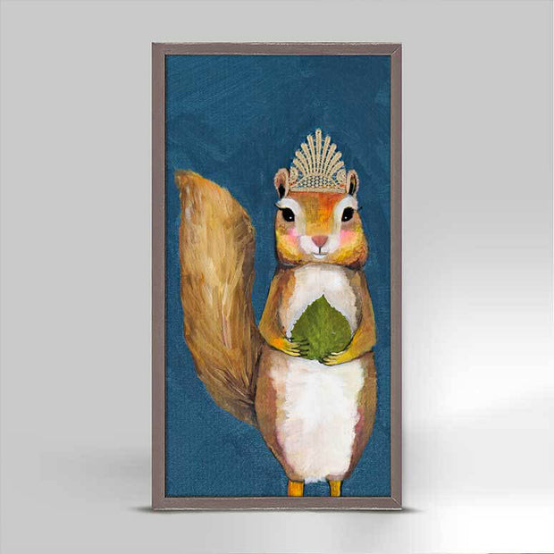 Squirrel King Mini Framed Canvas 5x10