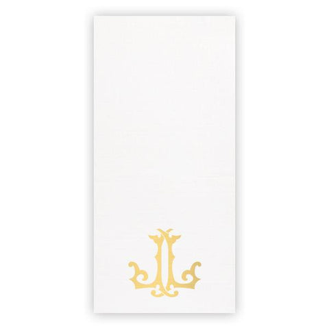 Monogrammed Faux Linen Guest Towel Set Sunset Co