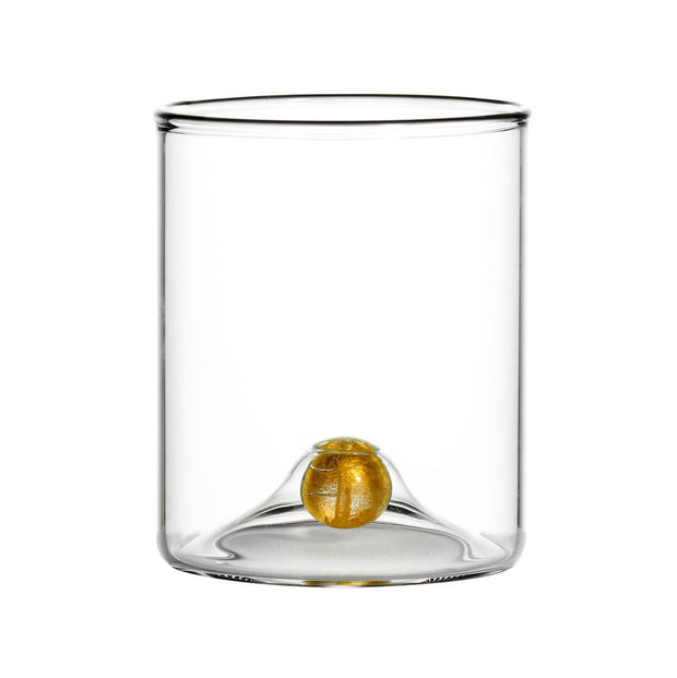 Clear Gold Ball Cocktail Glass