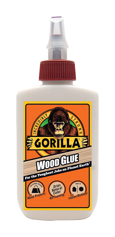 Gorilla Wood Glue 4 oz - Light Tan