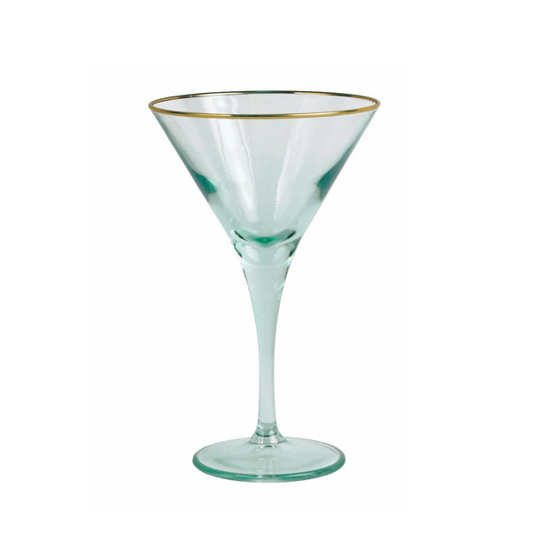 Vietri Rainbow Martini Glass - Green