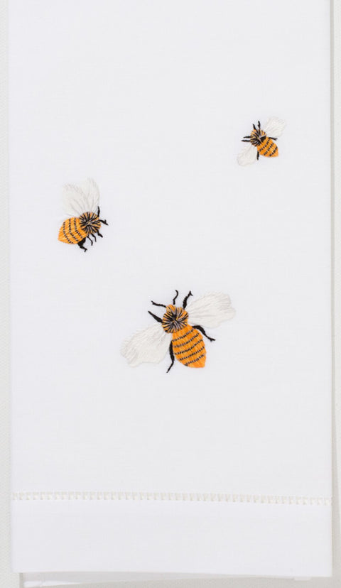 Embroidered Hand Towel - Bees