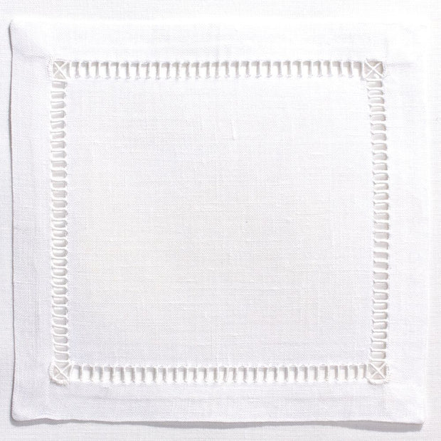 Pure Linen Cocktail Napkin White