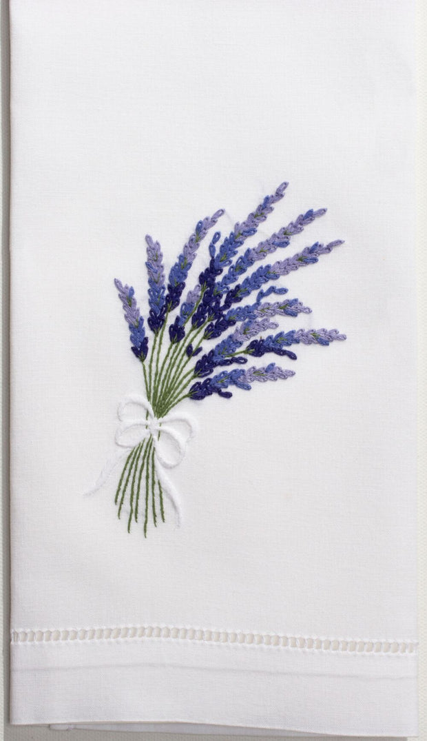 Embroidered Hand Towel - Lavender