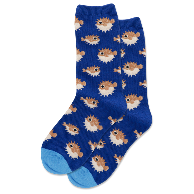 Kid's Pufferfish Crew Socks