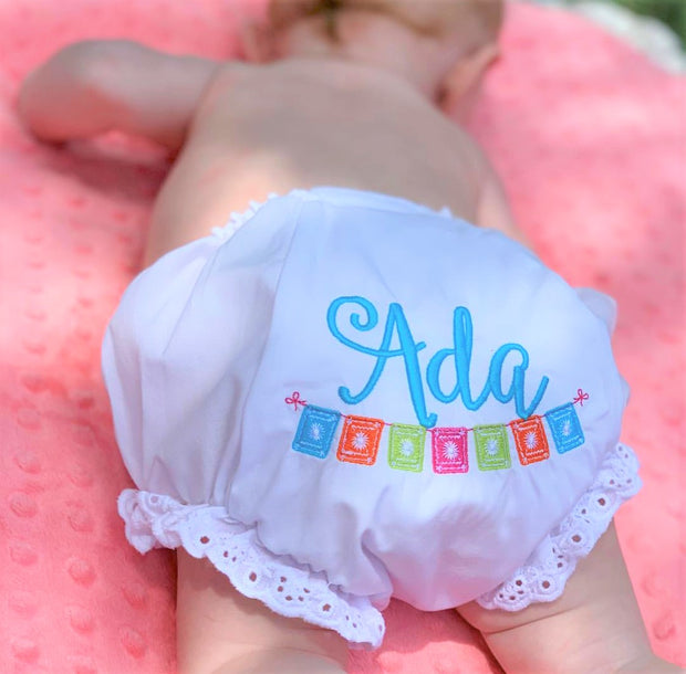 Baby Bloomers with Eyelet Ruffle