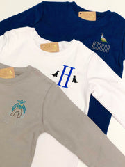 Boy's Long Sleeve Tee - White