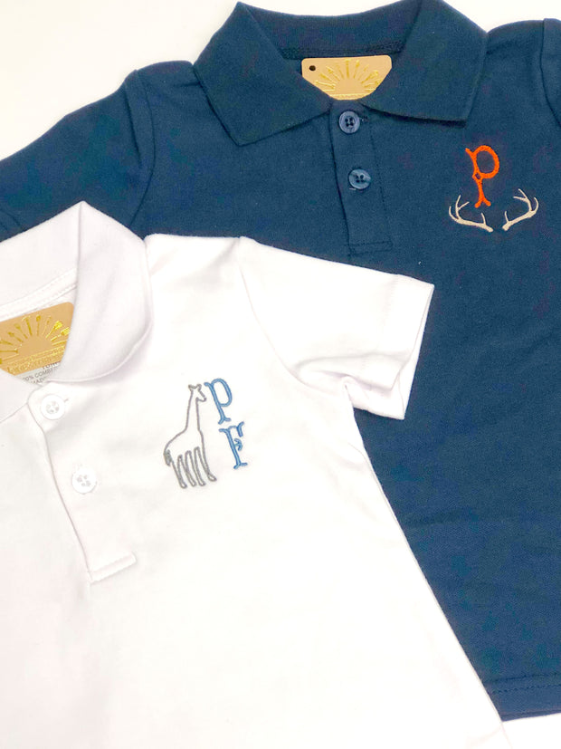 Polo Shirt, Short Sleeve - Ice Blue