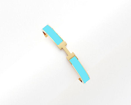 H Brecelet Gold/Turquoise - Small