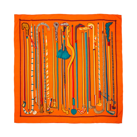 Big Scarf - Orange Canes