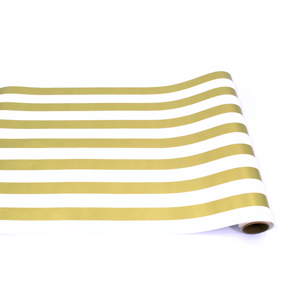 Hester & Cook Gold Stripe Paper Table Runner - 20in w x 25ft l