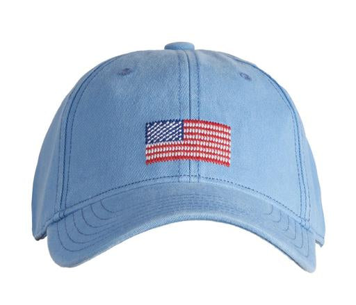 Kid's American Flag on Light Blue Hat