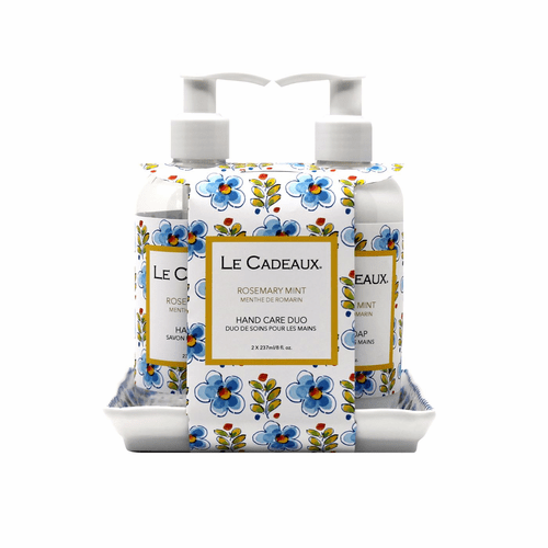 Le Cadeaux Hand Soap & Cream Gift Set - Rosemary Mint
