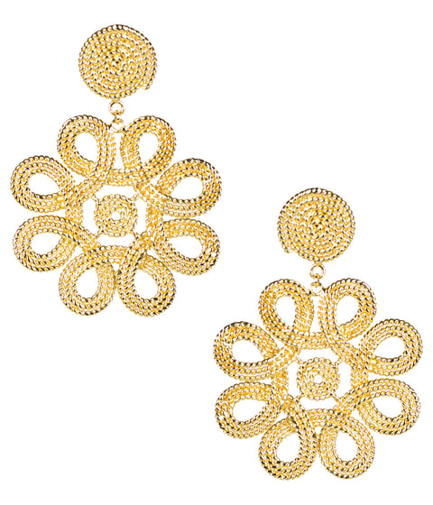 Cameran Gold Knot Earrings