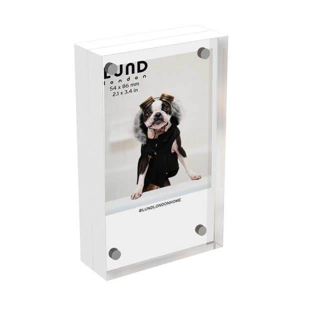 Lund London 2.1 x 3.4 Frame - White Acrylic