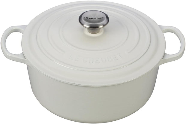 Le Creuset Signature Cast-Iron Round French Oven 5-1/2-Quart - White