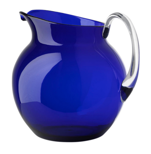 Mario Luca Palla Acrylic Glazed Pitcher - Blue