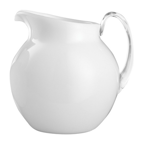 Mario Luca Palla Acrylic Glazed Pitcher - White
