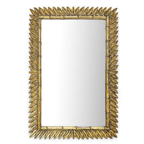 Golden Laurel Leaf Mirror