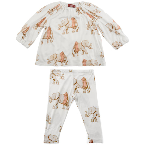 Milkbarn Tutu Elephant Dress & Legging Set