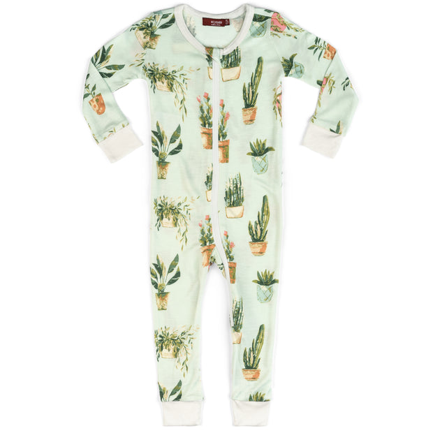 Milkbarn Potted Plants Zipper Pajama