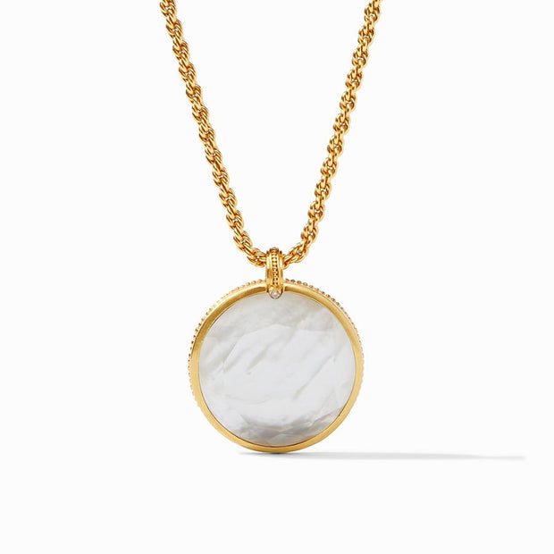 Julie Vos Coin Statement Pendant - Mother of Pearl