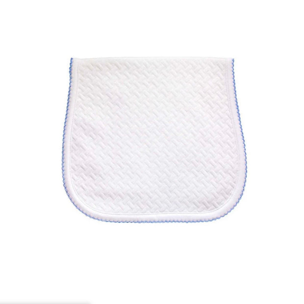 Blue Basket Weave Baby Burp Cloth
