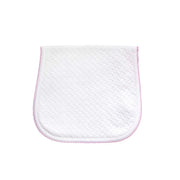 Pink Basket Weave Baby Burp Cloth
