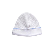 Blue Basket Weave Baby Hat