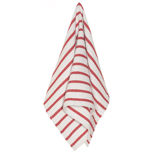 Red Basketweave Dishtowel