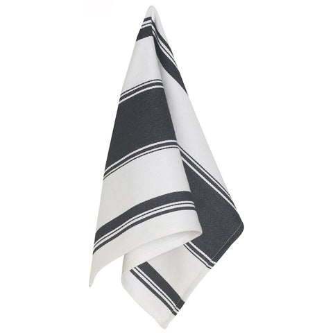 Black Symmetry Dishtowel