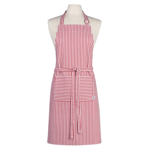 Narrow Red Stripe Chef Apron