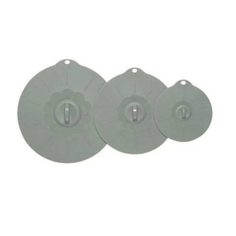 Gray Silicone Lid Set