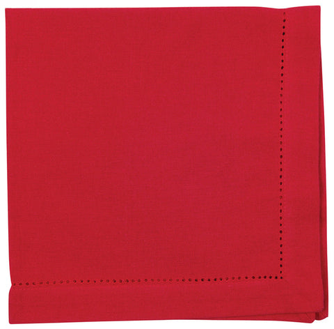 Chili Red Hemstitch Napkin