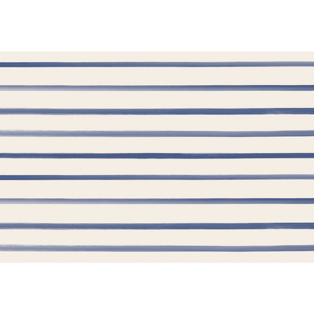 Hester & Cook Navy Stripe Paper Placemats - Set of 24