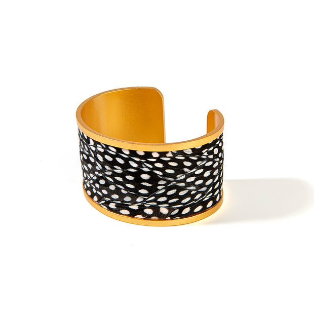 Brackish Guinea Feather Courtney Wide Cuff