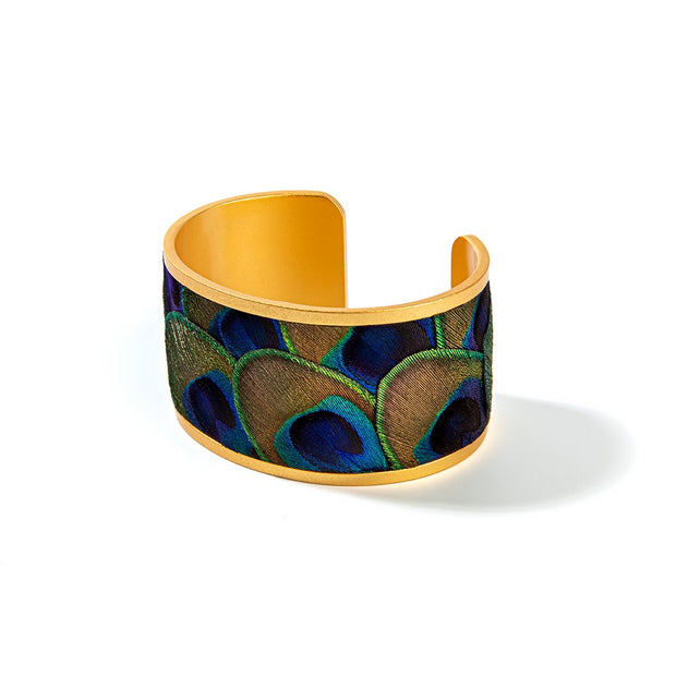 Brackish Peacock Feather Mary Ann Wide Cuff