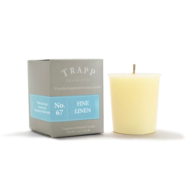 Trapp Candle Votive No 67 Fine Linen