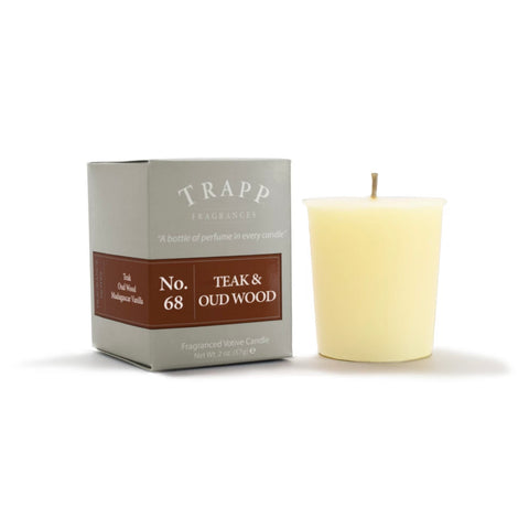 Trapp Candle Votive No 68 Teak and Oud Wood