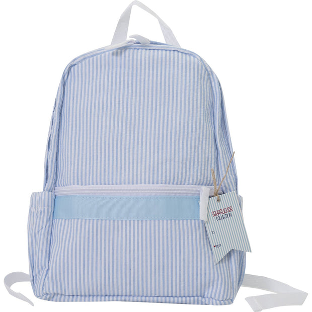 Seersucker Backpack Mini - Baby Blue