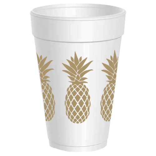 Pineapple Wrap Around Styrofoam Cups