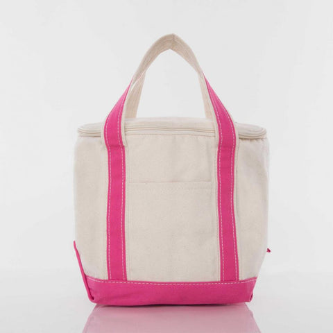 Small Lunch Cooler Tote - Hot Pink