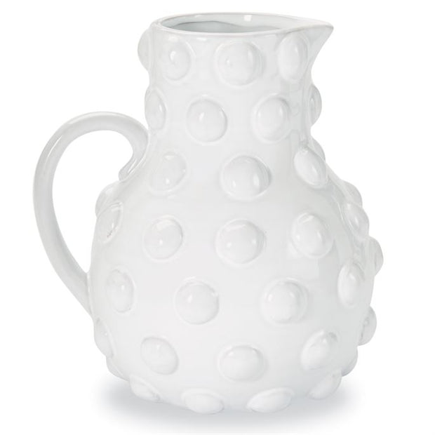 Raised Dotted Pitcher - White