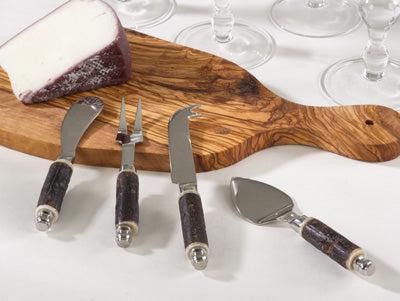 Bark Wood Cheese Cutlery Set