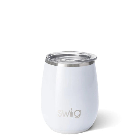Swig Stemless Wine Cup 14 oz - Diamond White