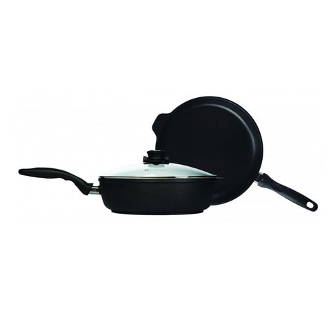 Swiss Diamond 3 Piecec Set: Nonstick Fry Pan And Saute Pan