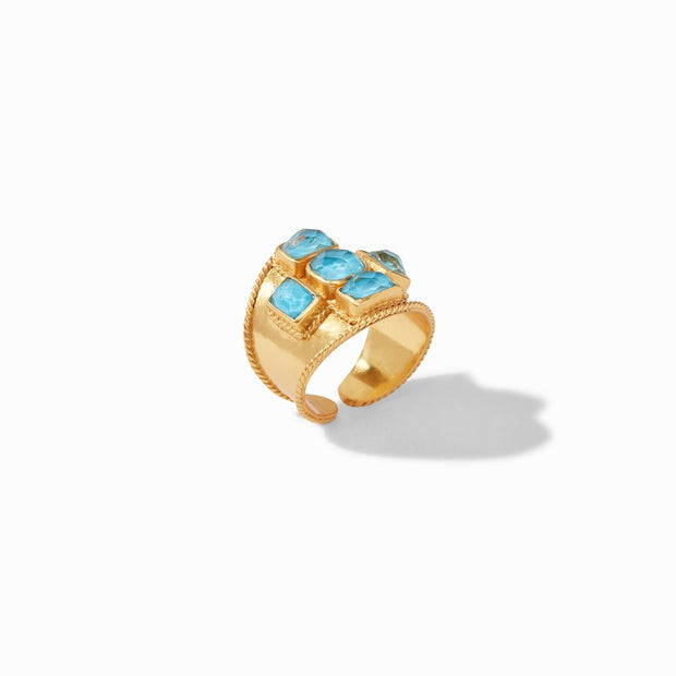 Julie Vos Savoy Statement Ring, 8 - Iridescent Pacific Blue
